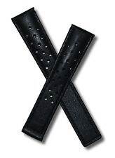 18 mm black sports leather watch strap to fit  TAG Heuer Carrera models listed