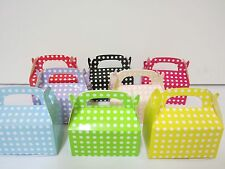 48x Polkadot  Lolly Candy BOXES Party Favours Loot Lolly Party Bag  Candy Buffet