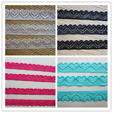 DIY 10/20/50/100 yards beautiful heart-shaped elastic lace. Free shipping!!