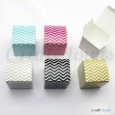 50x Chevron Pattern Gift Candy Boxes Wedding Party Favor Baby Shower Bomboniere