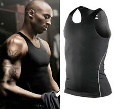 New Mens Body Compression Wear Base Layer Tank Top Vest Under Shirt  Skin