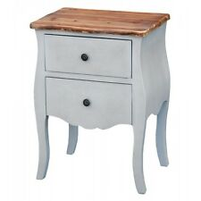 Transylvania Two Drawer Bedside Table Cabinet Shabby Chic Polished Wood Top