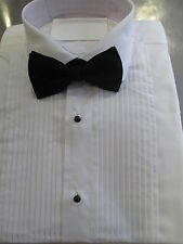 NEW Pleated White Dress Shirts Standard Collar /Mens New Formal Evening Wear