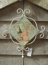 Shabby French Chic Vintage Scroll Single Eau de Nil Metal Coat Door Wall Hook