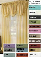 "Sheers Voile Ascot Valance - 60"" X 24"" (Panels Sold Seperatly)"