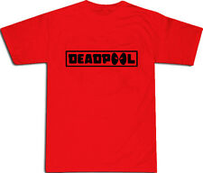 Deadpool Text Cool T-SHIRT ALL SIZES # Red