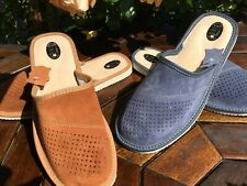 Mens Flip Flop Leather Mulle Sandals Slippers Clogs Shoe Size 7 8 9 10 11 12 13