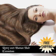 Clip In 100% Human Hair Extensions Remy Real Human Hair Extension