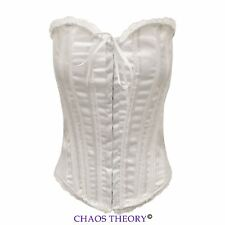 Ladies Womens Lace Up Bridal Wedding Underwear Basque Top Corset Lingerie