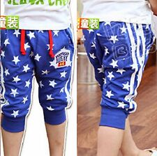 Baby Kids Boys' Clothing Cropped Pants Shorts Trousers Star Stripes Pockets Blue