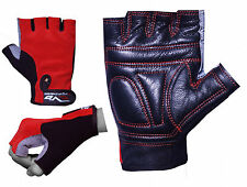 EVO Fitness Hand Woven Gym gloves Cow Hide Leather Weightlifting,Cycling Gloves