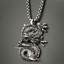 316L Stainless Steel Huge Dragon Mens Biker Rocker Pendant 3H005A
