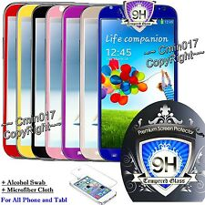 COLOR 9H Tempered Glass Screen Protector Film For Apple Samsung Nexus Cover Case