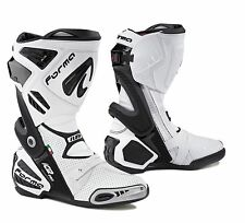 Forma ICE PRO FLOW white mens motorbike motorcycle boots