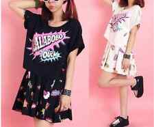 Harajuku High quality leisure skirt suit explosion pop printing t-shirts Suit