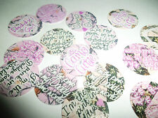 Pre Cut One Inch PINK CAMO HUNTER DADDY CUTIE Images!  Free Shipping IN US