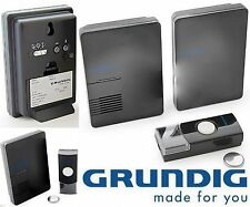 GRUNDIG Wireless Chime Doorbell - 1 or 2 Receivers - Many different ring tones