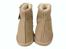 Australian Made Sheepskin Mini Ankle UGG Boots Men and Lady Beige Colour