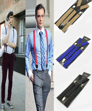 Unisex Fashion Men Women Skinny Thin Slim Adjustable Y-shape Clip-on Braces
