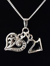 21ST BIRTHDAY GIFT NECKLACE.VARIOUS CHARMS TO CHOOSE. STERLING SILVER OPTION.