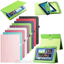 "For Samsung Galaxy Note 10.1"" N8000 Folio Flip PU Leather Stand Case Cover +Film"