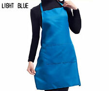 Plain Apron with Front Pocket for Chefs Butchers Kitchen Cooking Craft US Baking