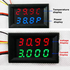 Digital led voltmeter Amperemeter Thermometer power meter DS18B20 Temperaturanze