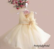 NEW GIRLS Baby Toddler Kid's Gorgeous V-Neck Floral Princess Party Wedding Dress