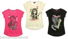 Girls Monster High Short SleeveT-Shirt Tops; 8-14 yrs; 3 Designs, BNWT