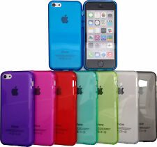 IPhone 5c - Colourful Transparent Glossy SILICONE Phone Case Cover / 8 Colours