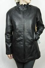 Orig $650 NEW Black WILSONS LEATHER 100% Lamb Women JACKET Coat LINED US XS-XXL