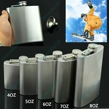 4-8OZ Stainless Steel Portable Hip Flask Alcohol Whiskey Liquor Wine Pot Flagon2
