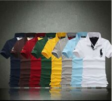 New Mens Cotton Luxury Casual Slim Fit Polo Short Sleeve T-Shirts 8Color  5Size