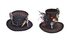 VICTORIAN & EDWARDIAN STEAMPUNK TOP MINI HATS FANCY DRESS COSTUME ACCESSORY