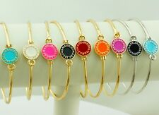 New Classical MARC BY M JACOBS Disk Letters Bracelet Bangle 11 colors available