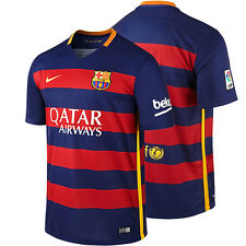 FC BARCELONA NIKE HOME JERSEY 2015 2016 FOOTBALL CLUB SOCCER TEAM OFFICIAL MENS