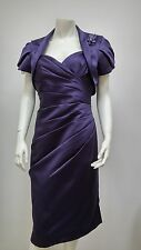 Purple Mother of the Bride Outfit Size 12 - 20 Wedding Jacket Dress Formal Suit