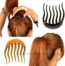 1pc Black/Coffee Hair Clip Bumpits Bouffant Ponytail Hair Comb Bun Maker