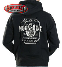 MOONSHINE WHISKEY Hooded Sweat Shirt Hoodie ~ XXX Whisky Only Illegal If Caught!