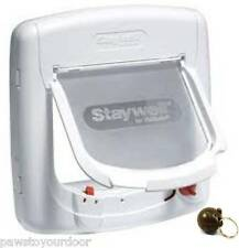 New Staywell Petsafe Magnetic Cat Flap / Pet Door 400 Catflap Multi Key Options