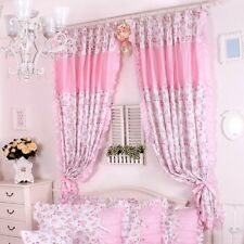 Korean Pink Roses And Lace For The Bedroom Rustic Curtain For Girls Living Room