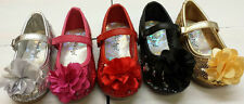 NEW Little Angels Girls 752D WEDDING PAGEANT Toddler Sequin Satin Flower Shoes