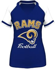 "St. Louis Rams Women's Majestic ""Go For Two IV"" V-neck T-shirt - Navy"