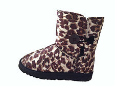 UGG Boots 1 Button Synthetic Wool Colour Brown Leopard On Special  Multi Size