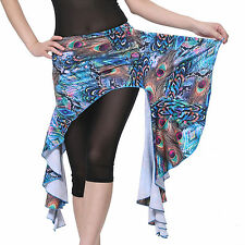 New 2014 Belly Dancing Costume Hip Scarf Wrap Skirt Belt Waistline Peacock 6colo