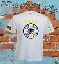 Germany 2014 World Cup Champions Deutschland Football Soccer Jersey T-SHIRT