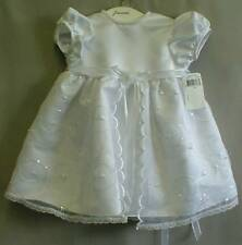 LAUREN MADISON BABY DRESS, BABY GIRLS CHRISTENING DRESS WHITE