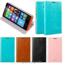 MOFI Thin PU Leather Steel Plate Flip Bracket Wallet Cover Case for NOKIA X2