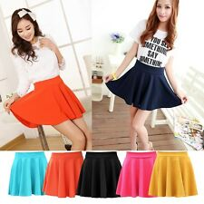 New Women Ladies Girls Sexy Skirts Aline Flared Plain Stretch Slim Shorts