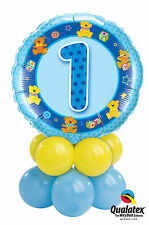 Birthday Boy Balloon Bouquet Table Display Centrepiece 1st-5th Party Flat Packed